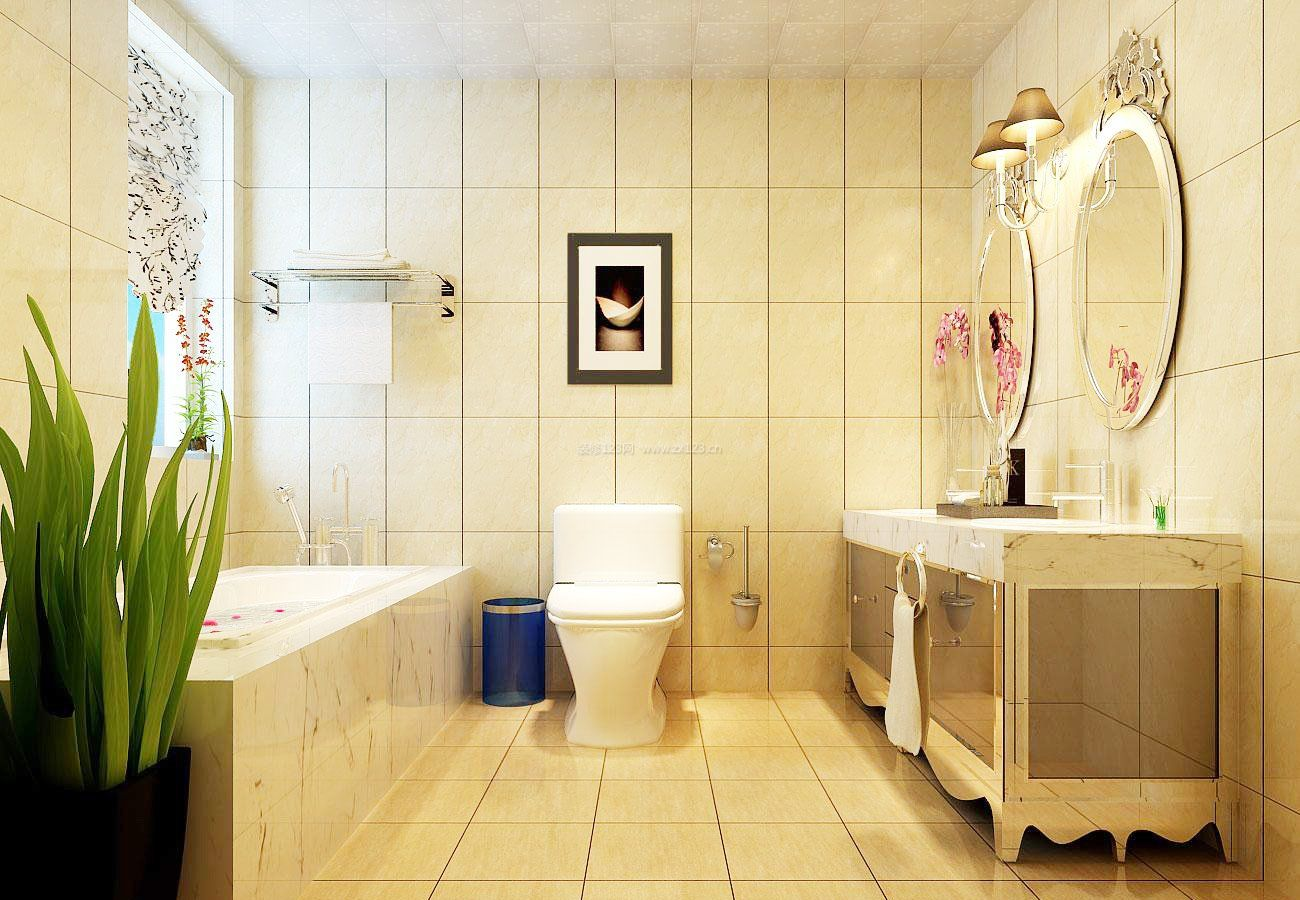 欧式家装卫生间地砖装修效果图