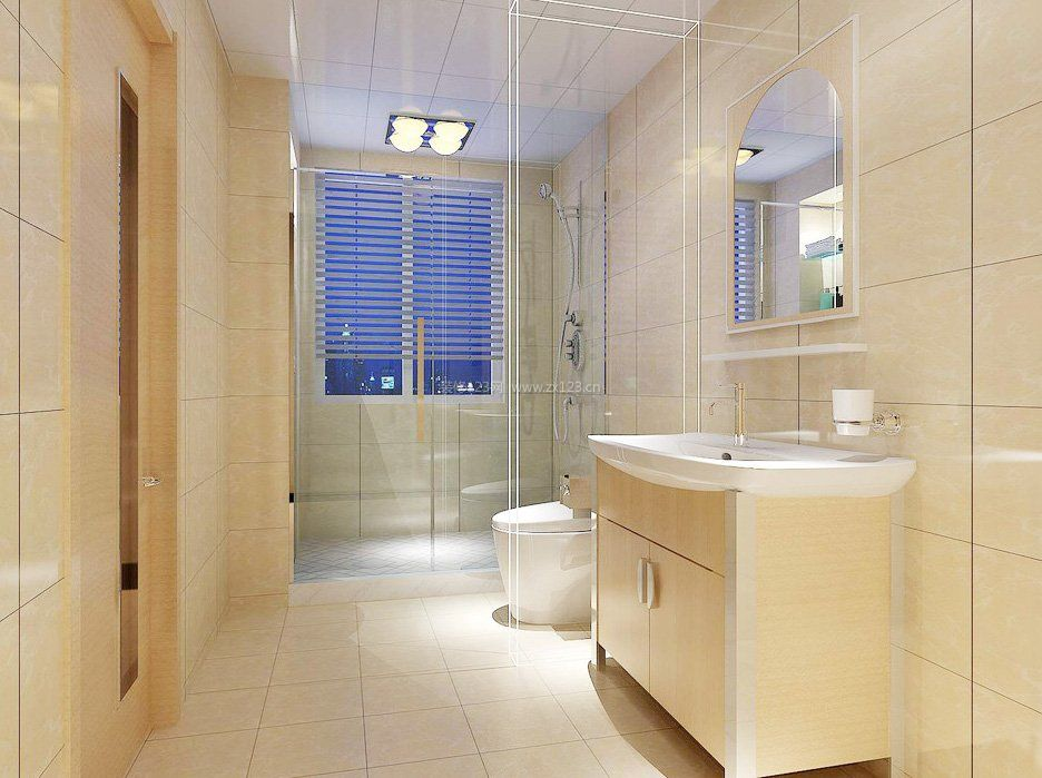 卫生间地砖_现代卫生间地砖装修风格效果图