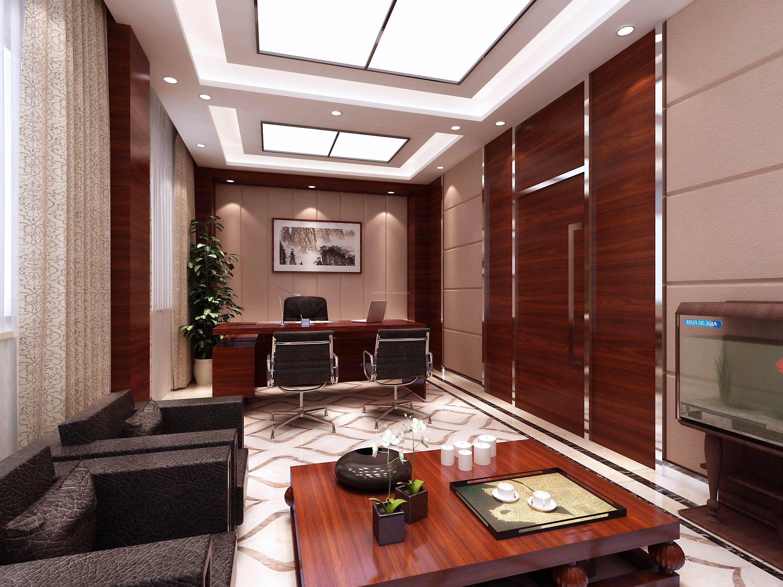 新中式风格办公室吊顶装修效果图片大全图片