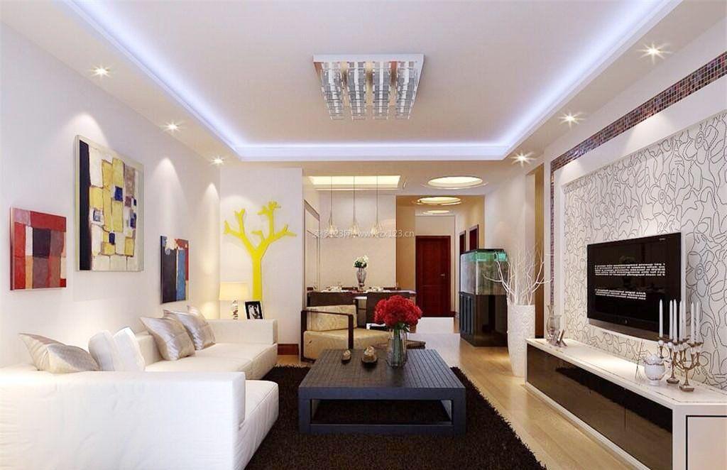 温馨房子电视墙造型装修效果图