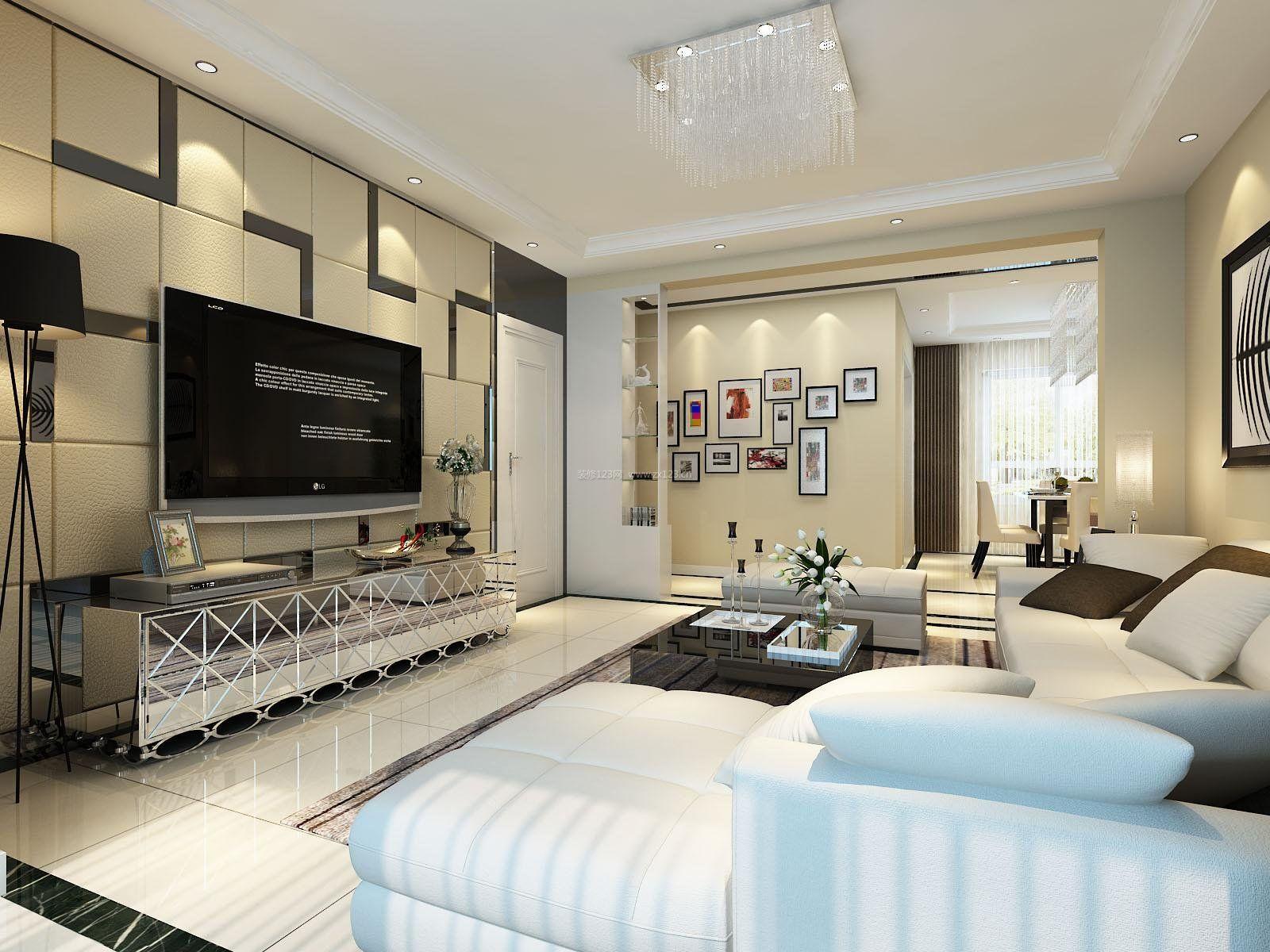 电视墙造型装修效果图现代时尚2017