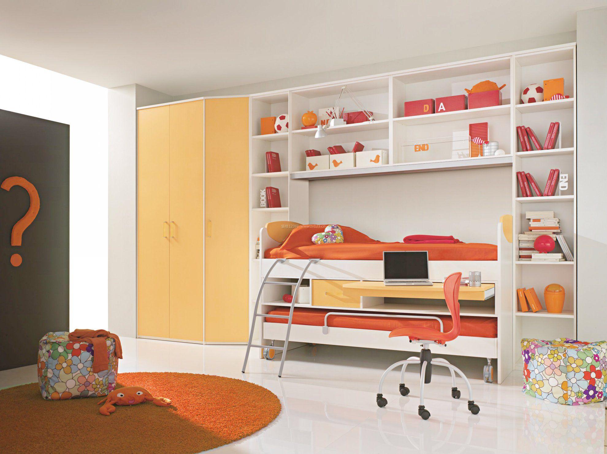 儿童卧室双层床装修效果图片