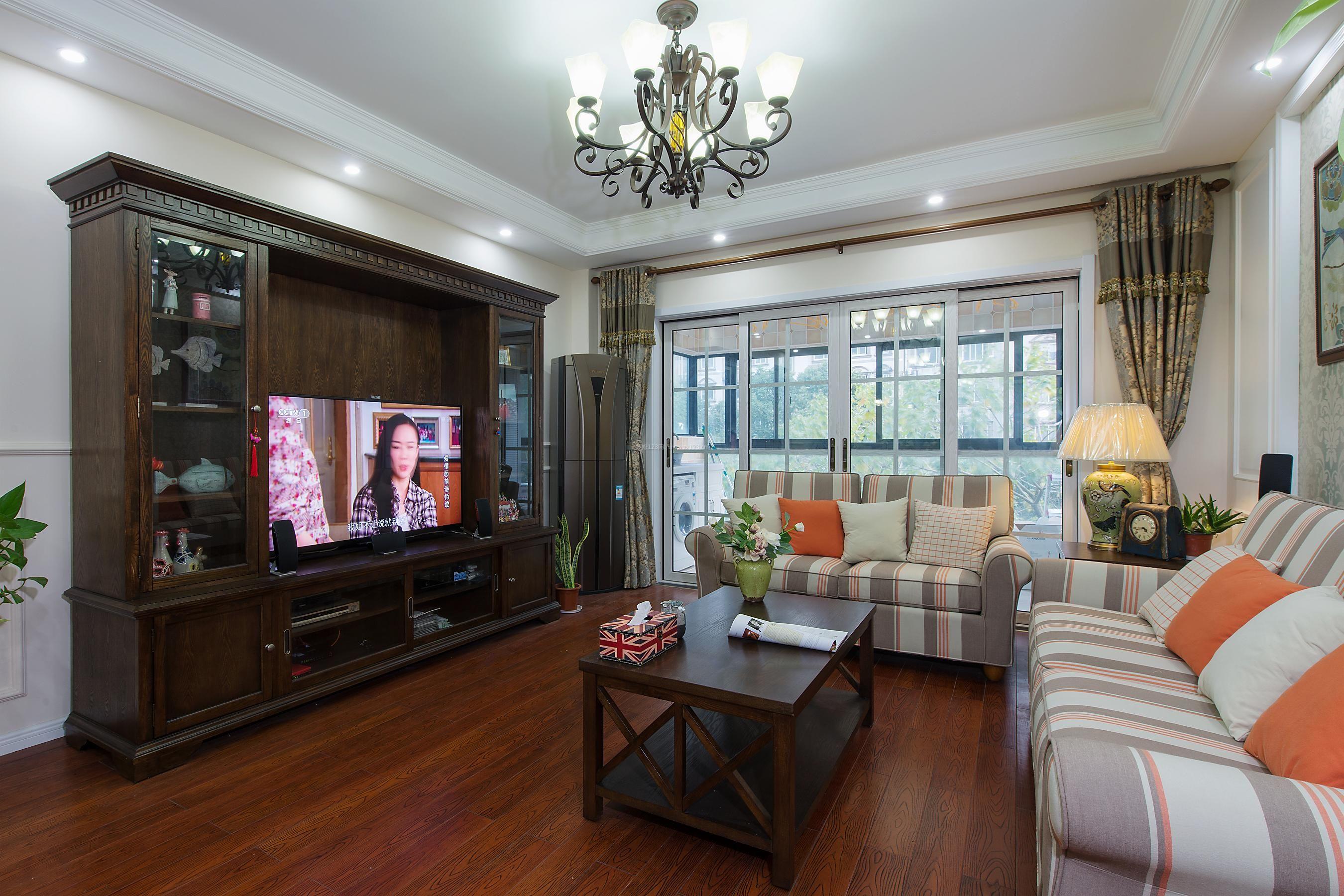 家装效果图 美式 美式乡村客厅电视柜设计装修效果图欣赏 提供者