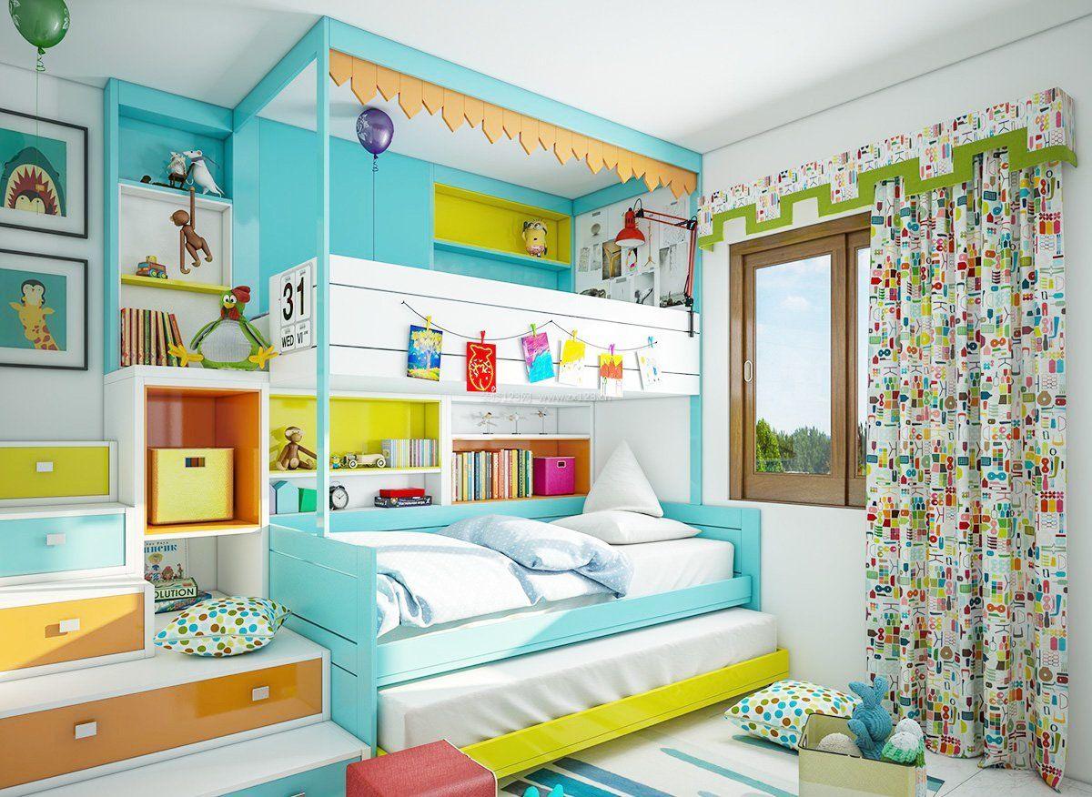 儿童房间设计图片大全-怎么设计儿童房间/小孩房间原始森林装饰/如何