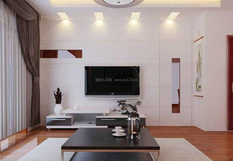 电视墙隐形门装修效果图 现代