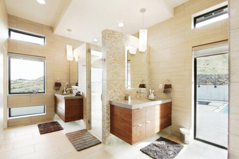现代浴室门装修效果图片欣赏