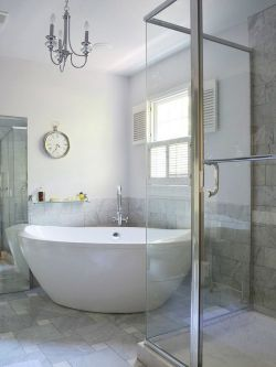现代浴室玻璃门装修效果图