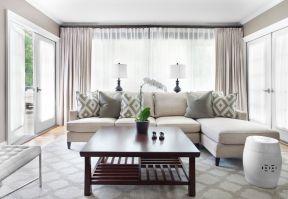小窗戶窗簾效果圖 小戶型小客廳