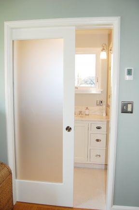 浴室门装修效果图 室内装修推拉门效果图