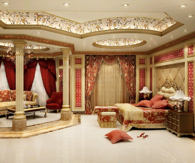 家庭装修欧式豪华卧室吊顶图片图片