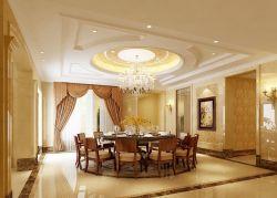 大戶型家庭裝修餐廳吊頂效果圖片