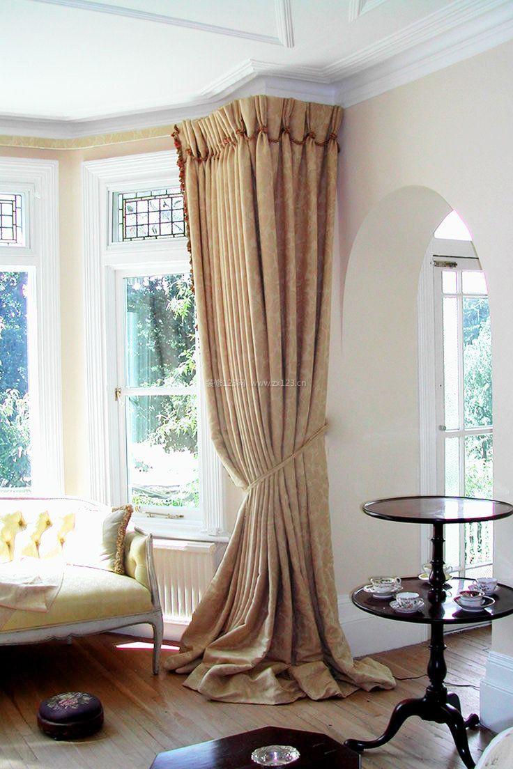 斜窗窗帘做法_家装小窗户窗帘效果图
