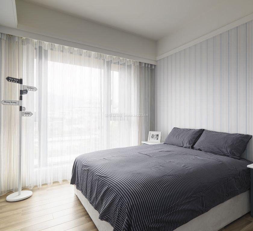 主卧室现代风格墙纸贴图装修效果图片