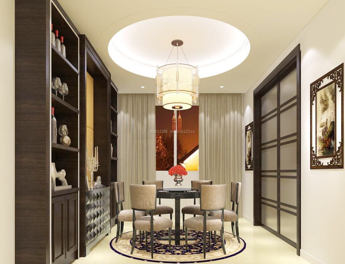 家装效果图 中式 中式酒柜效果图片大全 提供者