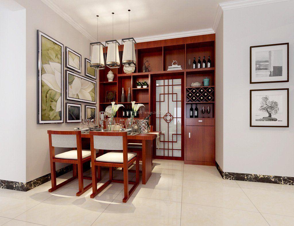 中式酒柜设计图片大全_装修123效果图