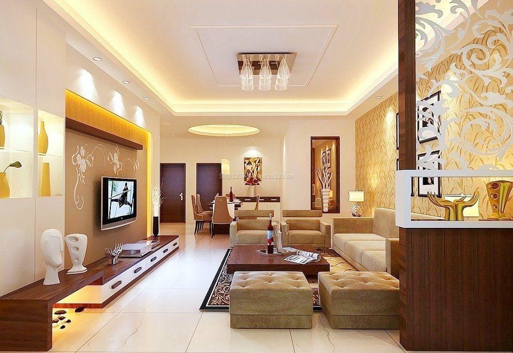 简约现代风格客厅墙纸贴图装修效果图