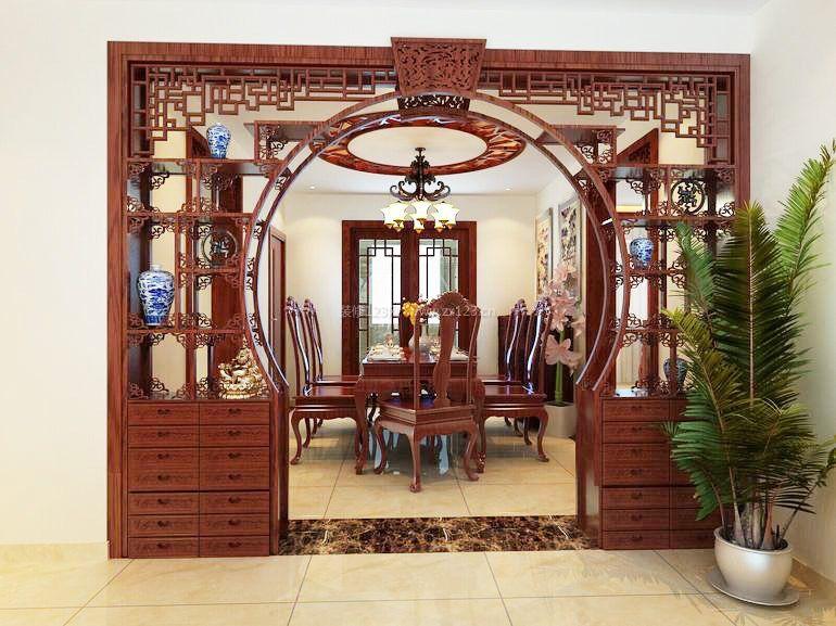 中式室内家具酒柜图片大全