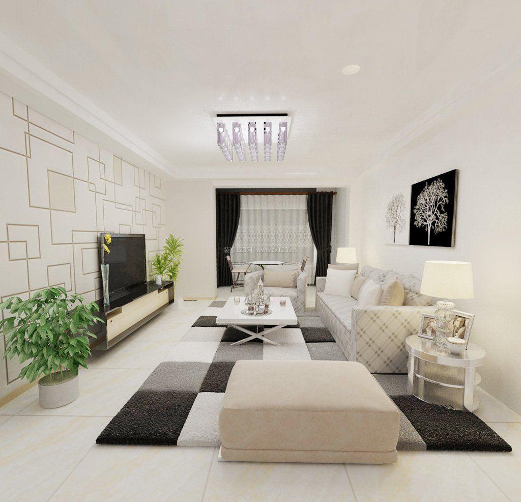 现代黑白简约风格装修墙纸贴图效果