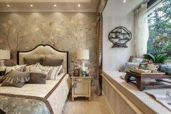 簡約法式風格臥室飄窗榻榻米裝修效果圖