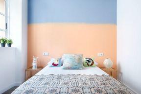 彩色墻面漆效果圖 臥室床頭背景墻