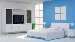 彩色墻面漆效果圖 現代臥室背景墻效果圖
