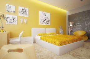 彩色墻面漆效果圖 簡單臥室效果圖
