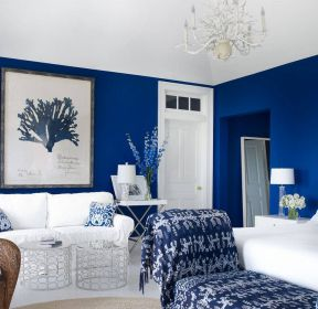 彩色墻面漆深藍色墻壁效果圖 -每日推薦