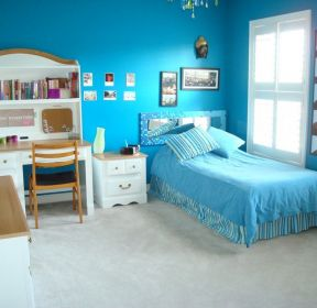 儿童卧室壁纸彩色墙面漆装修效果图-每日推荐