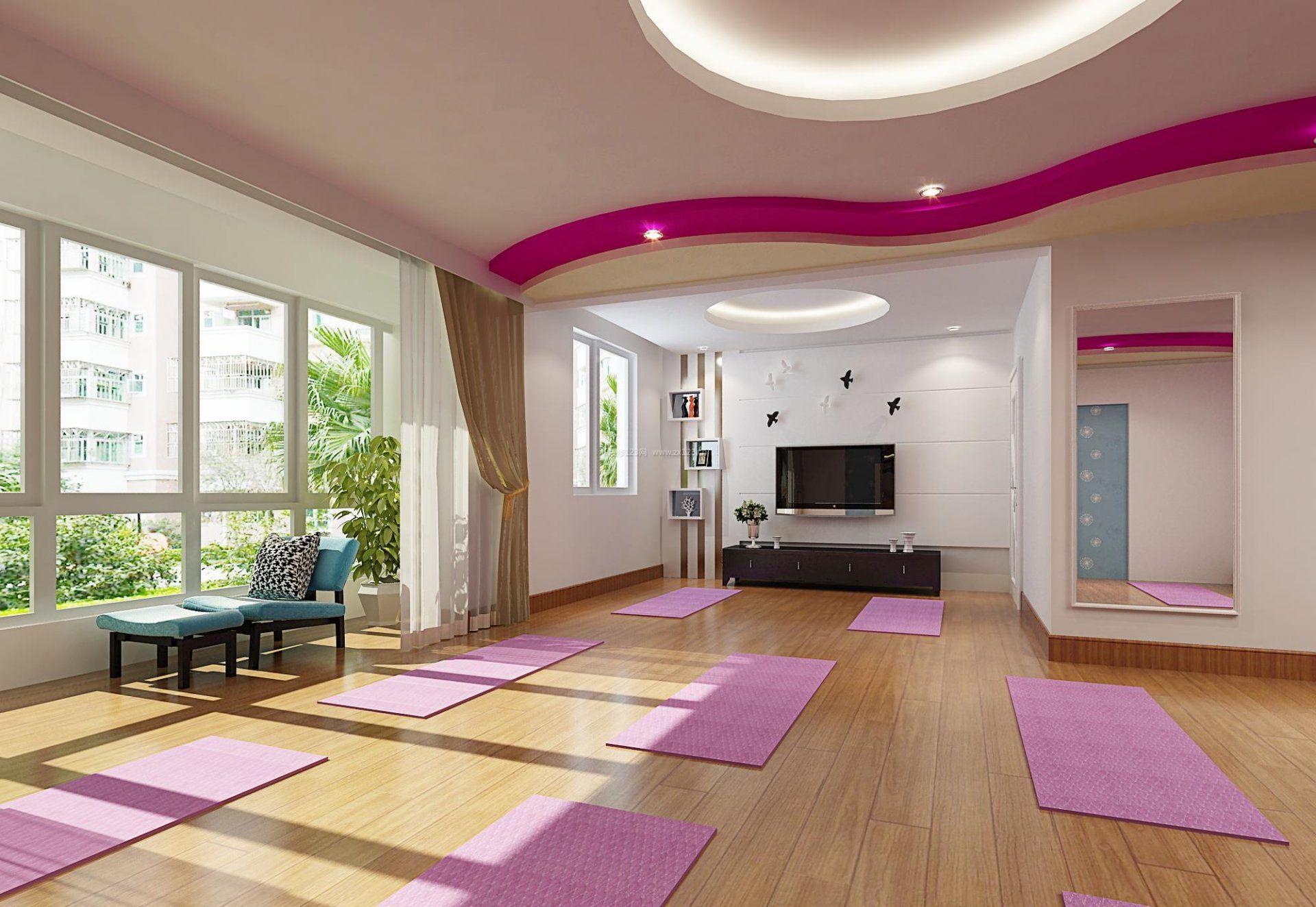 瑜伽馆室内窗户设计装修效果图