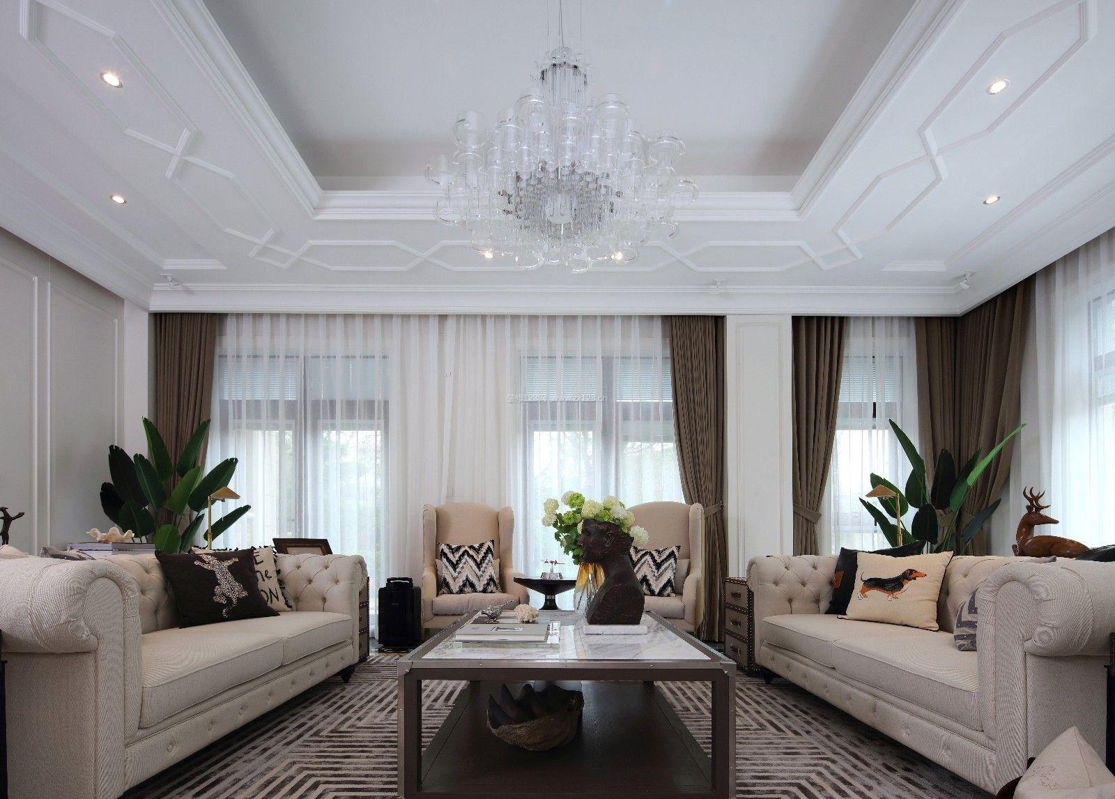 2017最新家装客厅欧式吊顶效果图