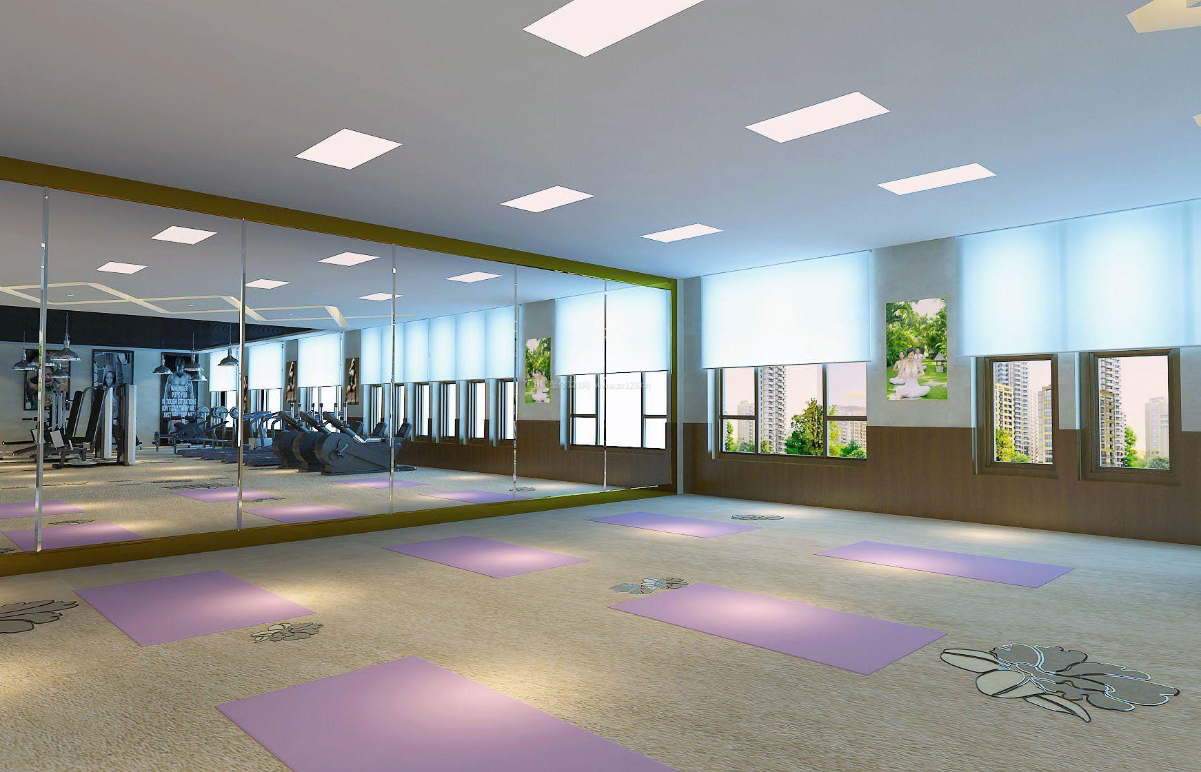 瑜伽馆室内装修效果图片欣赏