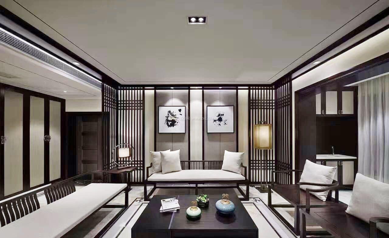 2017最新家装中式客厅沙发图片_装修123效果图