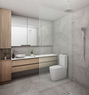 浴室玻璃隔断装修效果图片