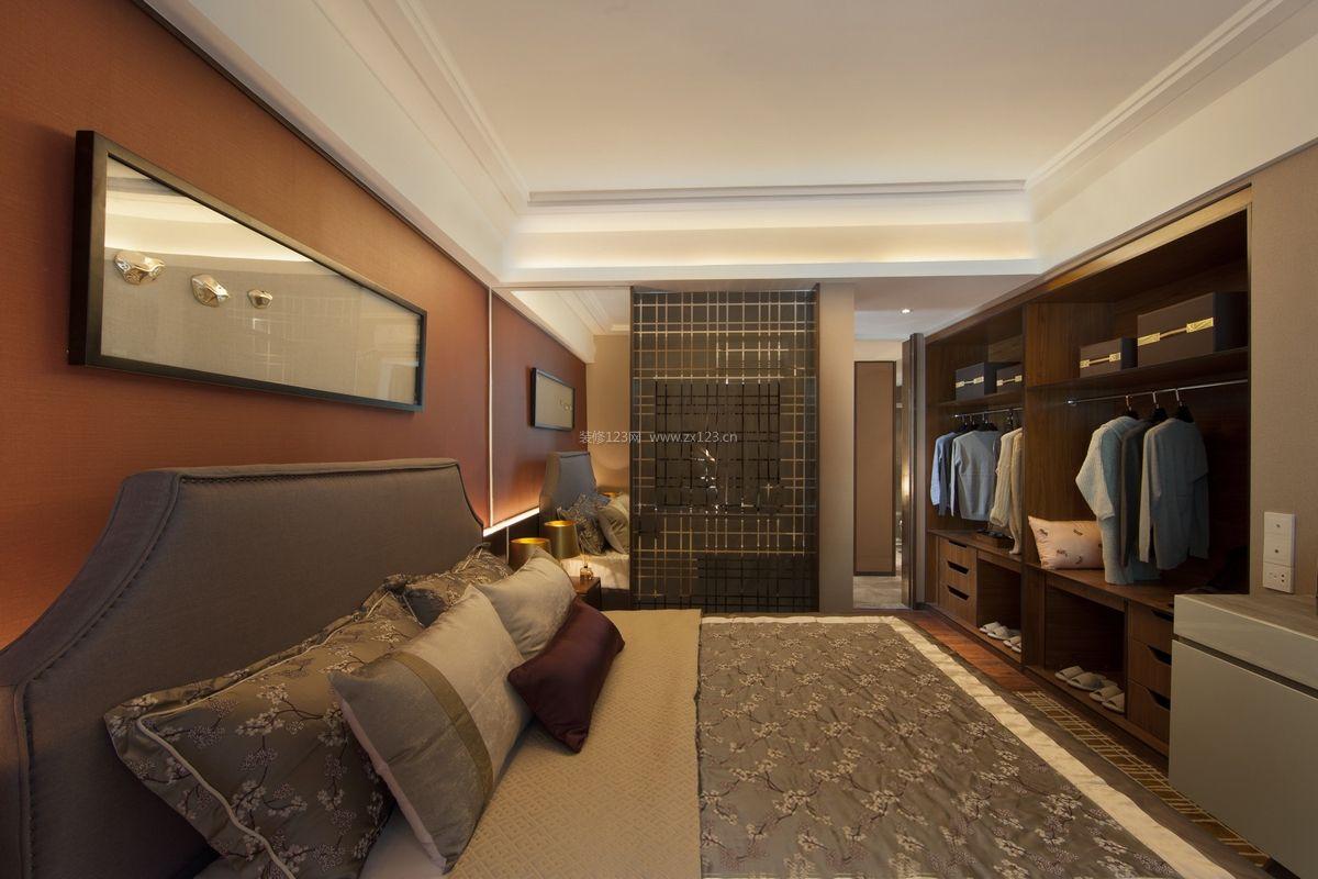 现代中式卧室衣柜内部设计装修效果图
