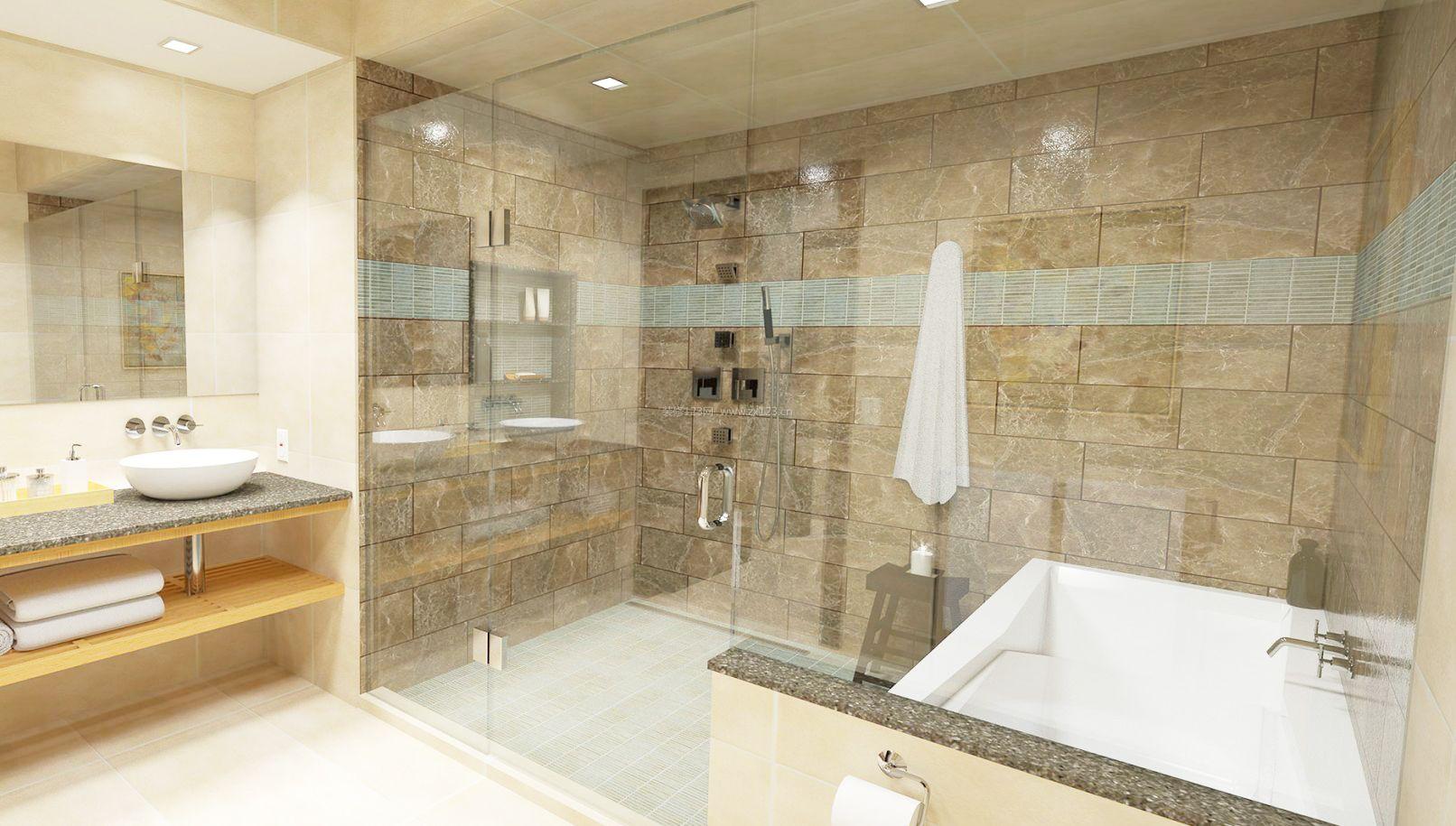 卫生间玻璃门安装装修效果图片