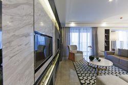 新房客廳大理石電視背景墻裝修效果圖大全