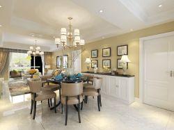 現代美式風格四室兩廳裝修效果圖片