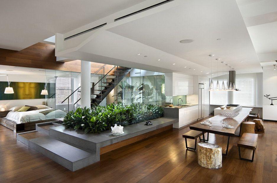 复式楼中楼单身公寓装修设计效果图_装修123效果图