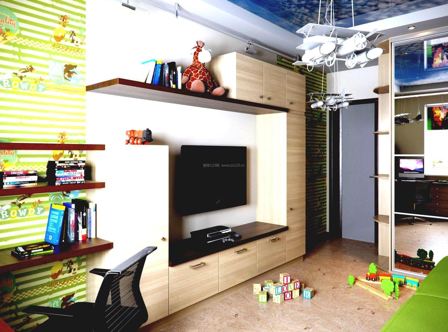 单身公寓简易电视柜装修设计图_装修123效果图