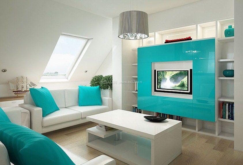 中庭阁楼斜顶公寓客厅装修设计效果图建筑设计中单身的定义图片