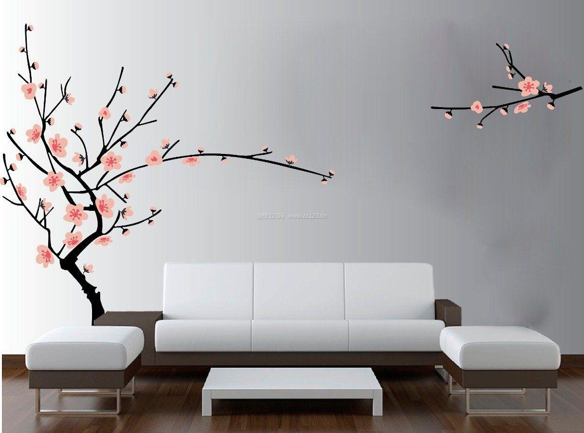 现代中式简约背景墙图片大全