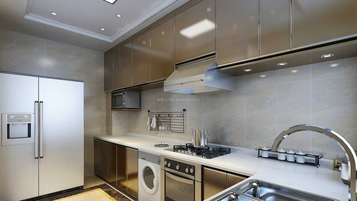 现代港式风格家庭厨房装修效果图