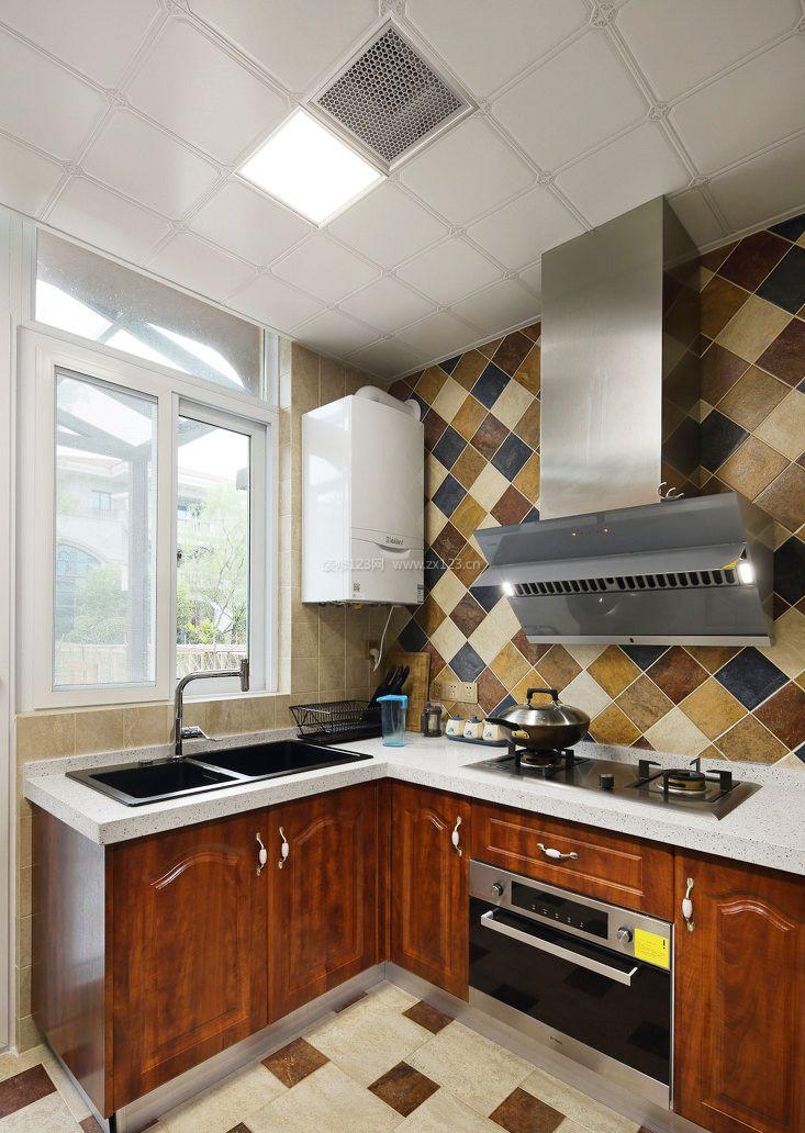 新农村房子厨房吊顶设计图片_装修123效果图图片