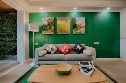 現代家居客廳陽臺背景墻設計效果圖