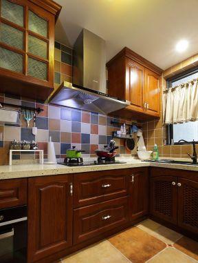 新农村房子设计图 厨房实木橱柜效果图图片