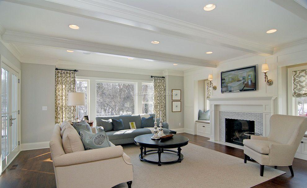 欧式简约风格房屋客厅装修效果图片