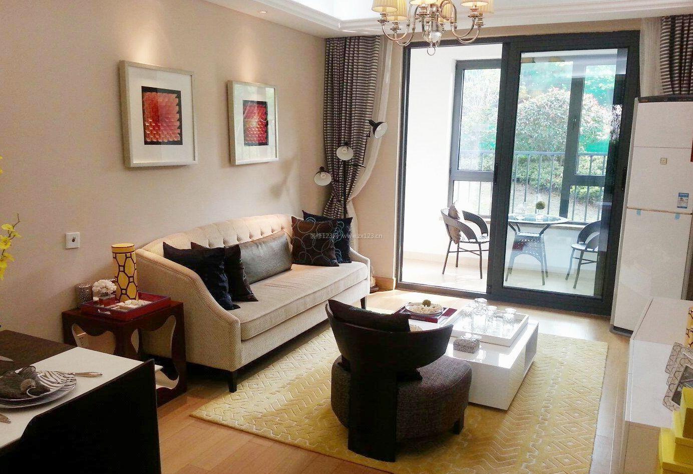 公寓式住宅沙发背景墙装修设计效果图