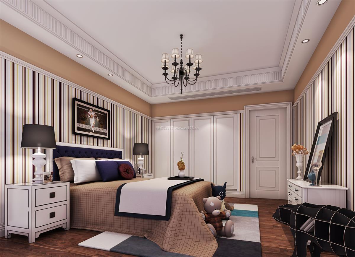 公寓式住宅卧室壁纸装修效果图大全