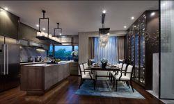 120平米房子开放式厨房餐厅装修效果图