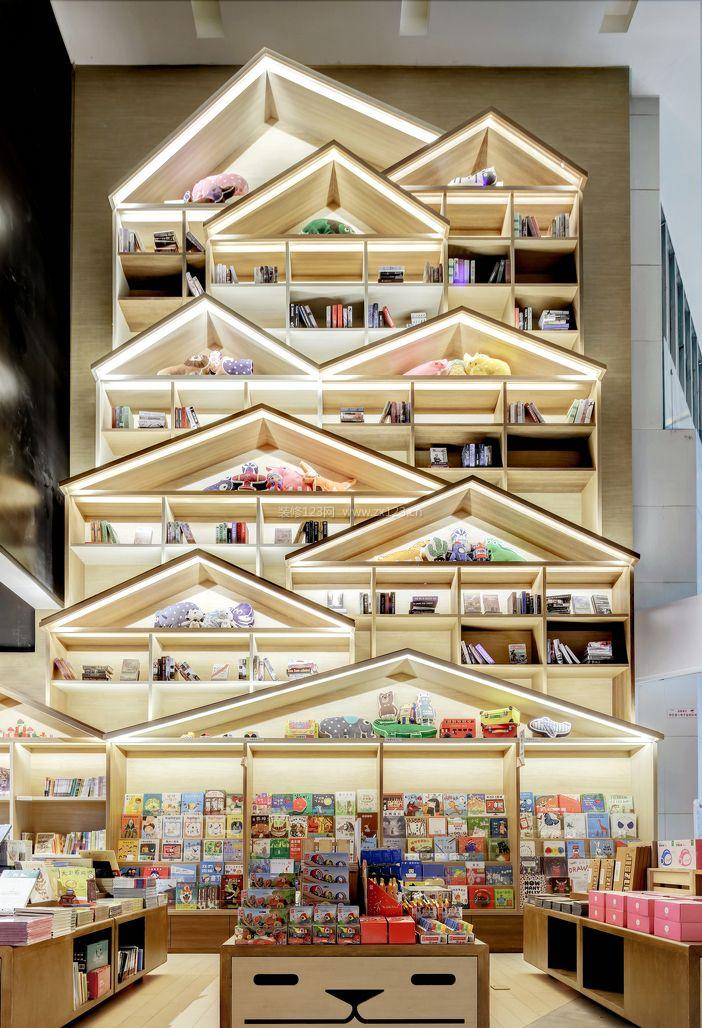 大型书店室内装修设计效果图